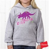 Dinosaur Personalized Youth Hooded Sweatshirt - 15416-YHS