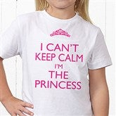 Keep Calm Personalized Youth T-Shirt - 15421-YCT
