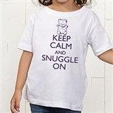 Keep Calm Personalized Toddler T-Shirt - 15421-TT