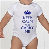 Keep Calm Personalized Baby Bodysuit - 15421-CBB