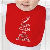 Keep Calm Personalized Baby Bib - 15421-B