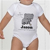 Lovable Elephant Personalized Baby Bodysuit - 15427-CBB