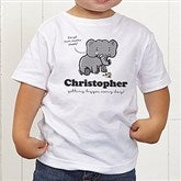 Lovable Elephant Personalized Toddler T-Shirt - 15427-TT