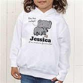 Lovable Elephant Personalized Toddler Hooded Sweatshirt - 15427-CTHS