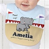 Lovable Elephant Personalized Baby Bib - 15427-B