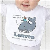 Lovable Whale Personalized Bib - 15428-B