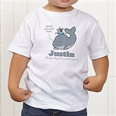 Lovable Whale Personalized Toddler T-Shirt - 15428-TT