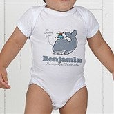 Lovable Whale Personalized Baby Bodysuit - 15428-CBB