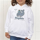 Lovable Whale Personalized Toddler Hooded Sweatshirt - 15428-CTHS