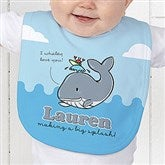 Lovable Whale Personalized Baby Bib - 15428-B