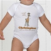 Lovable Giraffe Personalized Baby Bodysuit - 15429-CBB