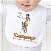 Lovable Giraffe Personalized Bib - 15429-B