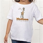 Lovable Giraffe Personalized Toddler T-Shirt - 15429-TT