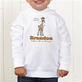 Lovable Giraffe Personalized Toddler Hooded Sweatshirt - 15429-CTHS