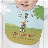 Lovable Giraffe Personalized Baby Bib - 15429-B