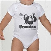 Lovable Skunk Personalized Baby Bodysuit - 15430-CBB