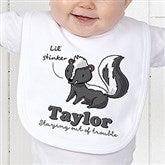Lovable Skunk Personalized Bib - 15430-B