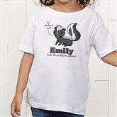 Lovable Skunk Personalized Toddler T-Shirt - 15430-TT