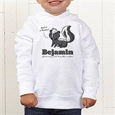Lovable Skunk Personalized Toddler Hooded Sweatshirt - 15430-CTHS