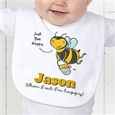 Lovable Bee Personalized Bib - 15431-B