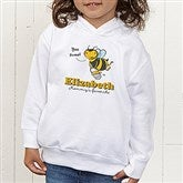 Lovable Bee Personalized Toddler Hooded Sweatshirt - 15431-CTHS