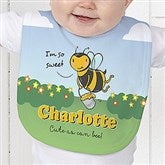 Lovable Bee Personalized Baby Bib - 15431-B