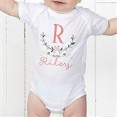 Girly Chic Personalized Baby Bodysuit - 15435-CBB