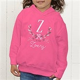 Girly Chic Personalized Toddler Hooded Sweatshirt - 15435-CTHS