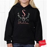Girly Chic Personalized Youth Hooded Sweatshirt - 15435-YHS