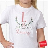 Girly Chic Personalized Hanes® Youth T-Shirt - 15435-YCT