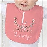 Girly Chic Personalized Baby Bib - 15435-B