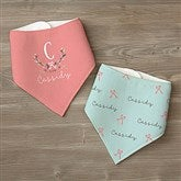 Girly Chic Personalized Bandana Bibs- Set of 2 - 15435-BB