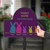 Easter Bunny Family Personalized Magnetic Garden Sign - 15438-M