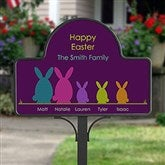 Easter Bunny Family Personalized Garden Stake - 15438-S