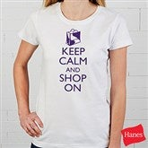 Keep Calm Personalized Ladies Fitted Tee - 15458-FT