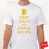 Keep Calm Personalized Hanes® T-Shirt - 15458-T