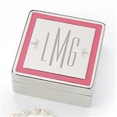 Pretty in Pink Engraved Jewelry Box- Monogram - 15459-M