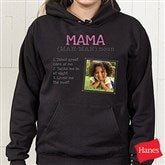 Definition Of Her Personalized Black Hooded Sweatshirt - 15461-BHS