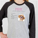 Definition Of Her Personalized Baseball T-Shirt - 15461-BT
