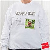 Definition Of Her Personalized White Sweatshirt - 15461-WS