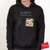 Definition Of Him Personalized Black Hooded Sweatshirt - 15462-BHS
