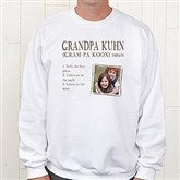 Definition Of Him Personalized White Sweatshirt - 15462-WS
