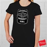 Whiskey Label Personalized Ladies Fitted Tee - 15464-FT