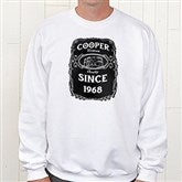 Whiskey Label Personalized White Sweatshirt - 15464-WS