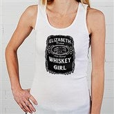 Whiskey Label Personalized White Tank - 15464-WT