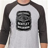 Whiskey Label Personalized Baseball T-Shirt - 15464-BT