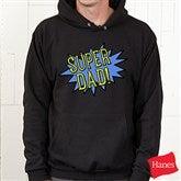 Super Hero Personalized Black Hooded Sweatshirt - 15465-BHS