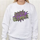 Super Hero Personalized White Sweatshirt - 15465-WS