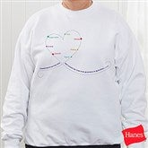 Grandchildren Connect The Dots Personalized White Sweatshirt - 15466-WS