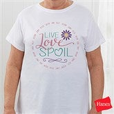 Live, Love, Spoil Personalized Ladies Fitted Tee - 15468-FT